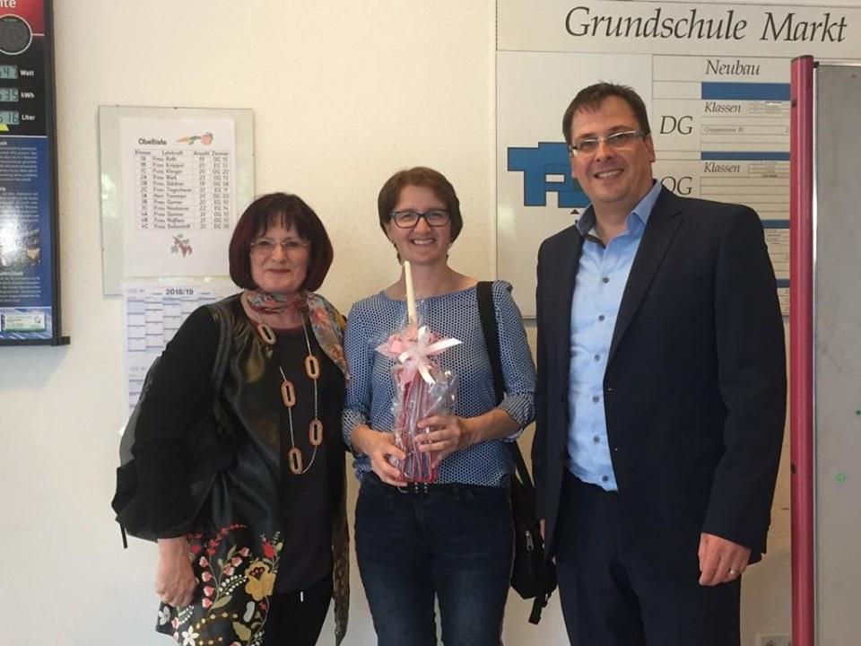 Christa Naaß, Astrid Weiße und Harald Dösel nach der Wahl am 12.05.2019